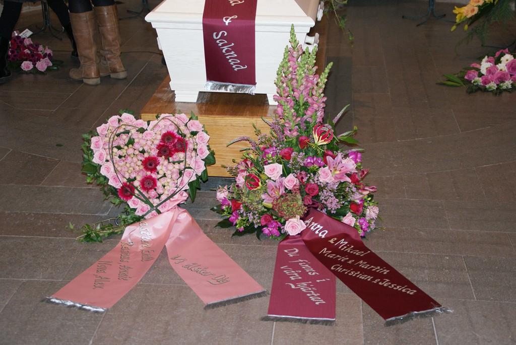 krans begravning text